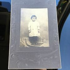 Child BOY Cane Wicker Chair Photograph CABINET CARD Fred Ernst Lancaster PA