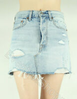 NWT Levis Premium Deconstructed Destroyed Denim Mini Skirt Whats The Damage