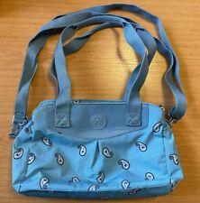 Kipling Blue Paisley Over the Shoulder Bag