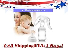Extra Strong Suction Silicone Nipple Hand Held Manual Breastfeeding Breast Pump
