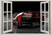 Chevrolet Corvette Stingray Car 3D Window Decal Wall Sticker Art Mural J857
