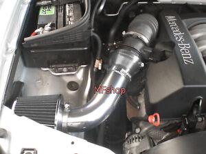 All Black For 1998-2002 Mercedes E320 E430 ML320 CLK320 Air Intake Kit + Filter