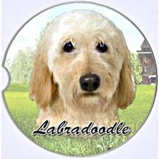 E&S Pets Absorbent Car Coaster Dog Breed Stoneware Labradoodle Tan Cream Yellow