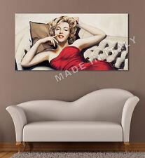 Quadro moderno Stampa su Tela Cotone cm.120x60 Marilyn Monroe Divano Arredo Casa