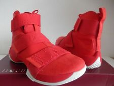 NIKE LEBRON LBJ SOLDIER 10 SFG LUX  sz 9.5   911306 600  RED BASKETBALL SHOES