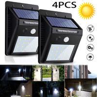 4PCS 20LED Solar Power Light PIR Motion Sensor Garden Outdoor Home Wall Lamp RF