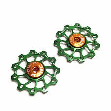 gobike88 KCNC Ultra Light Jockey wheel / Pulley, AL7075 11T green 2pcs/set, 697