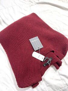 $1295 New Ermenegildo Zegna Burgundy 100% CASHMERE KNIT Sweater 48/38S US~Italy