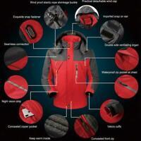Men's Winter Warm Jacket Snow Hiking Thick Hooded Waterproof Coat Outwear Z8T0