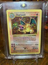1999 Base Set SHADOWLESS Charizard HOLO 4/102 Pokemon Card Light Play Very Nice!