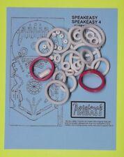 1982 Bally / Midway Speakeasy / Speak Easy pinball rubber ring kit