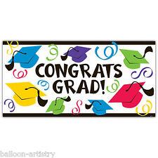 1,65 M Multicolore caps cappelli congratulazioni laurea party grandi Banner Decorazione