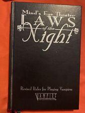 Minds Eye teatro las leyes de la noche Edición Especial Cubierta World of Darkness