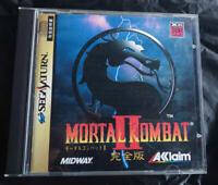 Mortal Kombat II Kanzen ban Sega Saturn SS Aklaim Used Japan Fighting Game