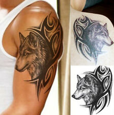 Large Body Art Arm Sleeves Temporary Tattoo Stickers Wolf Print Fake Tatoo New