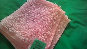 Hand-knitted  Baby's pink loopy   blanket size 24 x 28 ins