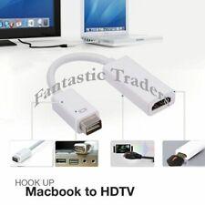 MacBook Pre- 2008 Mini DVI Male to HDMI Female Video Adapter Cable