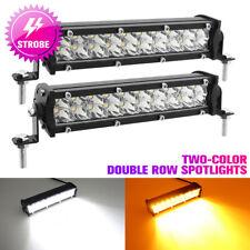2X 50W LED Work Spot Light Bar 10000LM Car Fog Lamp Truck Strobe Warning Lamp