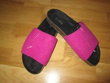 Next flat pink peep toe sandal shoes size 6.5 eur 40 brand new with tags