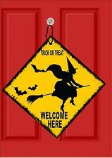Halloween Hanging Metal door Sign Trick or Treat Hanging Halloween Plaque