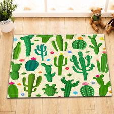 "Green Cactus Bath Mat Cartoon 15X23"" Floor Rug Bathroom Decor Area Rugs"