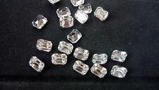 Emerald Cut 10 x 8mm White Cubic Zirconia Loose Gemstone AAAAA lot of 2 stones
