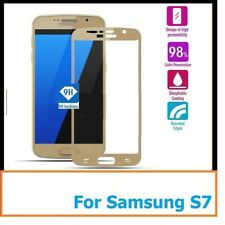 GENUINE TEMPERED GLASS SCREEN PROTECTOR FOR SAMSUNG GALAXY S7. FULL & SLIM GOLD