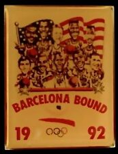 Basketball Olympic Pin Badge~1992~Barcelona Bound~Dream Team