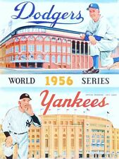 1956 WORLD SERIES PROGRAM  PHOTO IN ALL ITS GREAT COLORS YANKEES WIN 4-3  8 x10