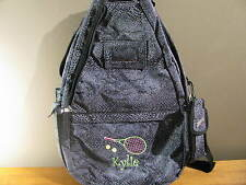 Jetpac Classic Tennis Sling Bag Lynne Tauchen. Gray Leopard Design