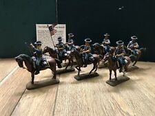 Imrie Risley / Berardi: The 7th Cavalry, c1878. 54mm Lead. Superbly Painted