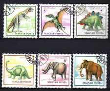 Animaux Préhistoriques Hongrie (14) série complète 6 timbres oblitérés