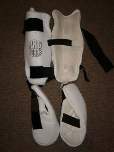Pro Force II Martial Arts Shin Guards & Instep TKD MMA Adult Large AS IS