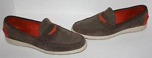 Rare Mens Allen Edmonds Navy Pier Green Orange Suede Loafers Shoes Size 10.5 E