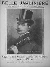 PUBLICITÉ PRESSE 1903 BELLE JARDINIÈRE VÊTEMENTS POUR HOMMES ENFANTS DAMES FILLE