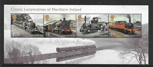 "MINIATURE SHEET MS3498 ""LOCOS OF NORTHERN IRELAND""  MNH UM  FREE POST"