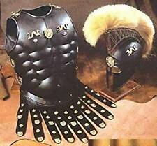 Halloween Costume Collectible Greek Roman Muscle Armor with Black Corinthian Hel