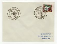 République Malgache 1 timbre sur lettre FDC 1959 tampon Tananarive /L549