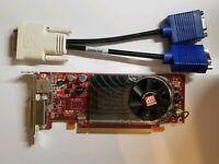 AMD Radeon HD 3450 Low Profile Dual Monitor DVI or VGA ATI-102-62902(B) Video