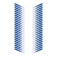 50pcs Interdental Brush Floss Sticks Tooth White Head Wires Toothpick Clean Blue