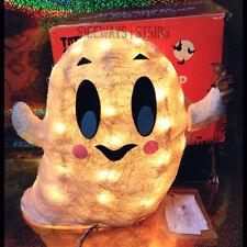 Sisal Ghost Halloween Decoration glittered indoor outdoor cute bat Rare pac-man