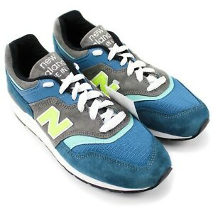 NWT New Balance 997 Made in USA Blue Grey Lime M997PAC Lifestyle Sneakers US 7