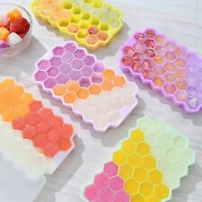 Silicone Honeycomb Ice Cube Tray Jelly Mould Freezer Maker Chocolate Mold +Cover
