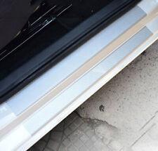 4PC Carbon Fiber Car Door Sill Scuff Cover Scratch Protector Vinyl Decal Sticker