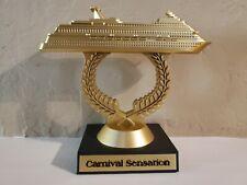 Carnival Cruise Line Gold Plastic Ship on a Stick Trophy - Sensation New Version