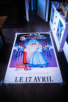 CINDERELLA Walt Disney 4x6 ft Bus Shelter D/S Movie Poster Rerelease 1987 USED