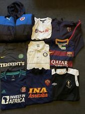 More details for football shirt bundle job lot x9 all adult sizes