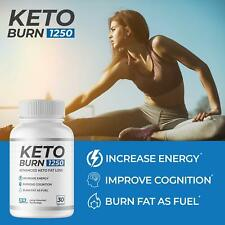 Keto Burn 1250 — Burn Body Fat as Fuel, Boost Energy and, Suppress Appetite