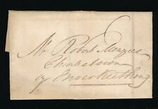 SCOTLAND 1825 LEVEN BOXED 438 MILEAGE + LETTER to MENZIES...JB SEAL JOHN BALFOUR
