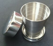 FREE ENGRAVING (PERSONALIZED) Stainless Steel Collapsible Shot Glass / Cup